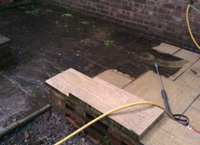 during brickwork cleaning