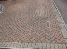 before block paving cleaning