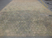 before block paving driveway cleaning